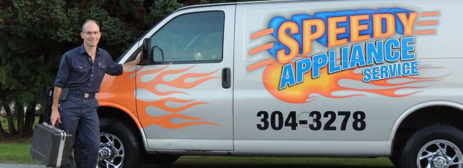 Kevin with Speedy Appliance Service van